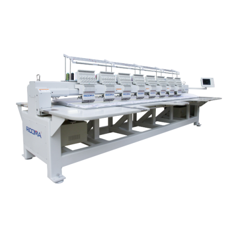 Ricoma RCM-1208FHS 12-игольная 8-головочная вышивальная машина с плоской платформой