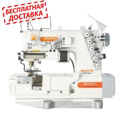 Siruba F007K-W522-240/FR/FFC/LS-A, F007K-W522-232/FR/FFC/LS-A плоскошовная швейная машина (распошивалка) с устройством подачи эластичных кружев и подрезкой материала справа