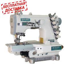Siruba C007K-W812-356/CRL/RL плоскошовная швейная машина с цилиндрической платформой и левосторонней подрезкой материала