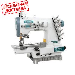 Siruba C007J-W222-356/CQ плоскошовная швейная машина (распошивалка) цилиндрической платформой с устройством для окантовки.