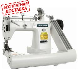 Siruba FA 007-364XL/DP Трехигольная машина цепного стежка с П-образной платформой и двумя пуллерами