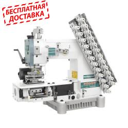 Siruba VC008-12064Р/VCE/RL Двенадцатиигольная машина цепного стежка с цилиндрической платформой и роликами для растяжки резинки