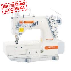 Siruba F007K-U712-264/FSP/FEC плоскошовная четырехниточная машина с двумя петлителями, механизмом подачи и электрообрезкой тесьмы