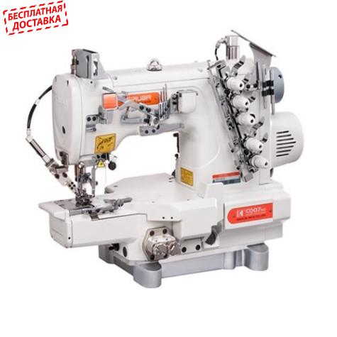 Распошивальная машина с цилиндрической платформой и пневмообрезкой нитей Siruba C007KD-W122-356/CH/UTP/CL-/DCKH1