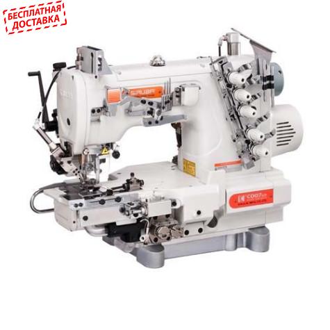 Siruba C007KD-W822A-356/CRL/CHP/UTP/CL/RL распошивальная машина с подрезкой края, обрезкой нитей и роликами растяжки резинки