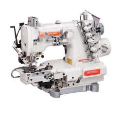 Siruba C007KD-W812A-356/CRL/UTP/CL/RL Плоскошовная швейная машина (распошивалка) с левосторонней подрезкой края материала, пулером для продвижения и пневмообрезкой нитей width=