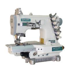Siruba C007K-W812-356/CRL/RL плоскошовная швейная машина с цилиндрической платформой и левосторонней подрезкой материала width=