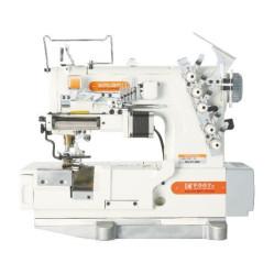 Siruba F007K-W522-364/FR/FFC/LS-A, F007K-W522-356/FR/FFC/LS-A плоскошовная швейная машина (распошивалка) с устройством подачи эластичных кружев и подрезкой материала справа width=