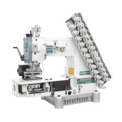 Siruba VC008-12064Р/VCE/RL Двенадцатиигольная машина цепного стежка с цилиндрической платформой и роликами для растяжки резинки width=
