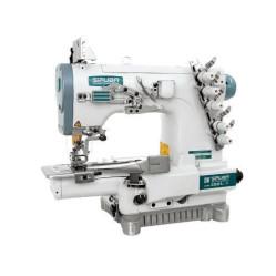 Siruba С007K-W222-356/CQ плоскошовная швейная машина (распошивалка) с цилиндрической платформой и устройством для окантовки width=