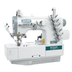 Siruba F007J-W222-240/FHA, F007J-W222-248/FHA плоскошовная четырехниточная швейная машина (распошивалка) с подгибкой края изделия
