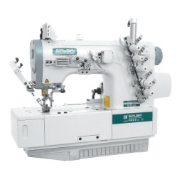 Siruba F007J-W222-240/FHA, F007J-W222-248/FHA плоскошовная четырехниточная швейная машина (распошивалка) с подгибкой края изделия width=