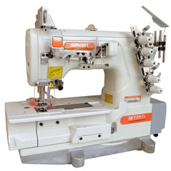 Siruba F007K-W122-364/FHA, F007K-W122-356/FHA  плоскошовная швейная машина с устройством для подгибки width=