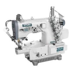 Siruba S007KD-W122-364/PCH-3M/UTX плоскошовная машина (распошивалка) с миницилиндрической платформой, электрообрезкой нитей и встроенным сервомотором width=