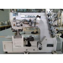 Typical GK1500-02 трёхигольная пятиниточная плоскошовная машина (распошивалка) с плоской платформой беечной модификации