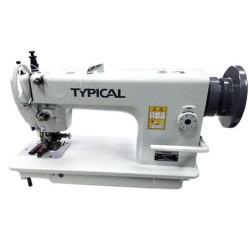 Typical GC0303Q одноигольная машина с двойным транспортом и обрезкой края материала width=