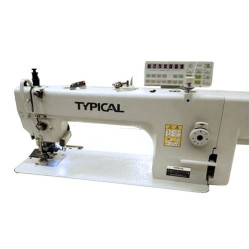 Typical GC0303QD2 одноигольная машина с двойным транспортом с обрезкой края материала и встроенным сервоприводом