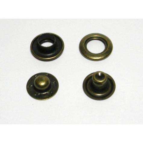 Кнопка кольцевая цв антик 15мм (уп 144шт) МН