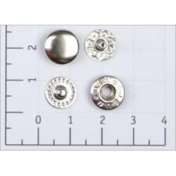 Кнопка L-10 цв никель сталь 10мм (уп 1440шт) K-38 width=