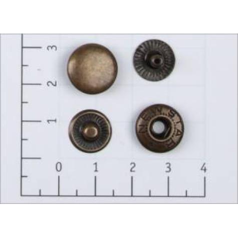 Кнопка L-12 цв антик сталь 12,5мм (уп 1440шт) K-33