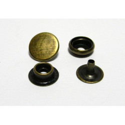 Кнопка №61 цв антик сталь 12,5мм (уп 144шт) МН 0300-6000 width=