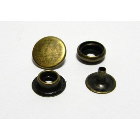 Кнопка №61 цв антик сталь 12,5мм (уп 144шт) МН 0300-6000