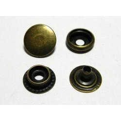 Кнопка №61 цв антик сталь 15мм (уп 144шт) МН width=