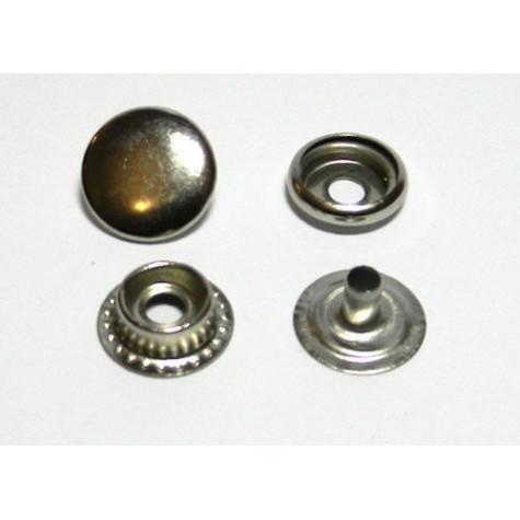 Кнопка №61 цв никель сталь 12,5мм (уп 144шт) МН 0300-6000