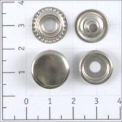 Кнопка №61 цв никель сталь 15мм (уп 720шт) К-04 width=