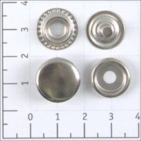 Кнопка №61 цв никель сталь 15мм (уп 720шт) К-04