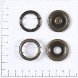 Кнопка рубашечная цв антик нерж 30мм кольцо КР-11 (уп 72 шт) width=