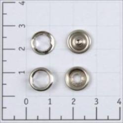 Кнопка рубашечная цв никель нерж 9,5мм кольцо (уп 1440шт) КР-06 СТРОНГ width=