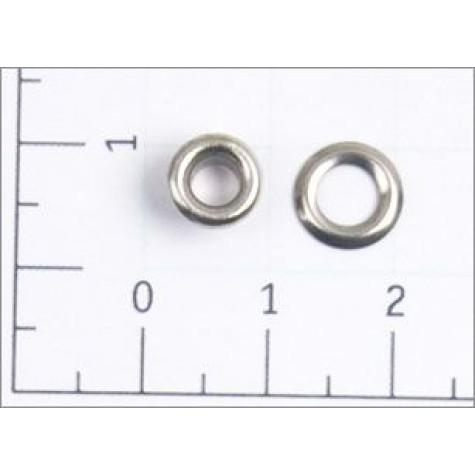 Люверсы стальные №01,7 цв никель 3мм (уп ок.5000шт)