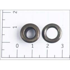 Люверсы стальные №4 цв антик 6мм (уп 1000,5000шт) width=