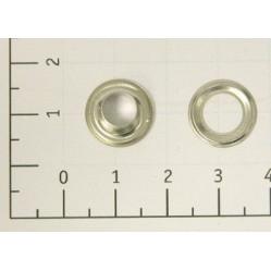 Люверсы стальные №4 цв никель 6мм (уп 1000,5000шт) width=