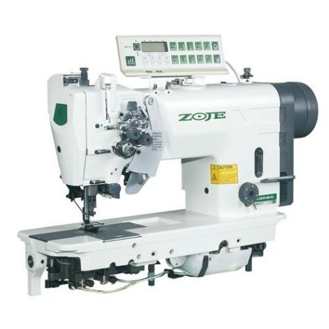 Zoje ZJ2875-5-BD-D3/PF Двухигольная машина челночного стежка с увеличенными челноками и автоматикой для тяжелых тканей