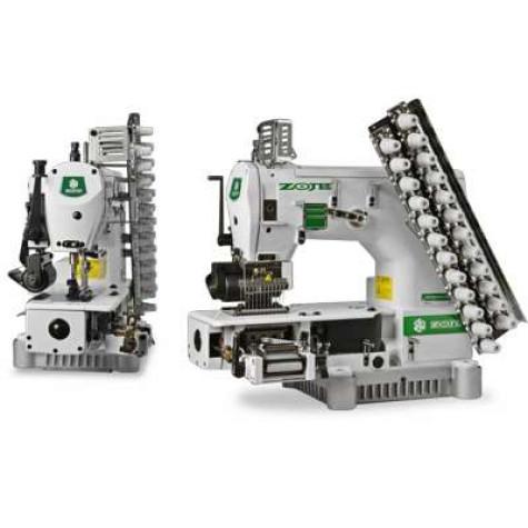 12-игольная швейная машина с цилиндрической платформой Zoje ZJ1414-100-403-601-615-12064