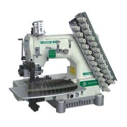 Zoje ZJ1414-100-403-601-616-12064  Двенадцатиигольная машина для пришивания эластичной нити width=
